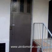 Установленый домофон в подъезде дома г. Севастополь